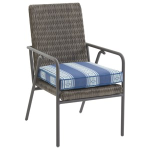 Small Outdoor Dining Chair with Removable Weatherproof Cushion