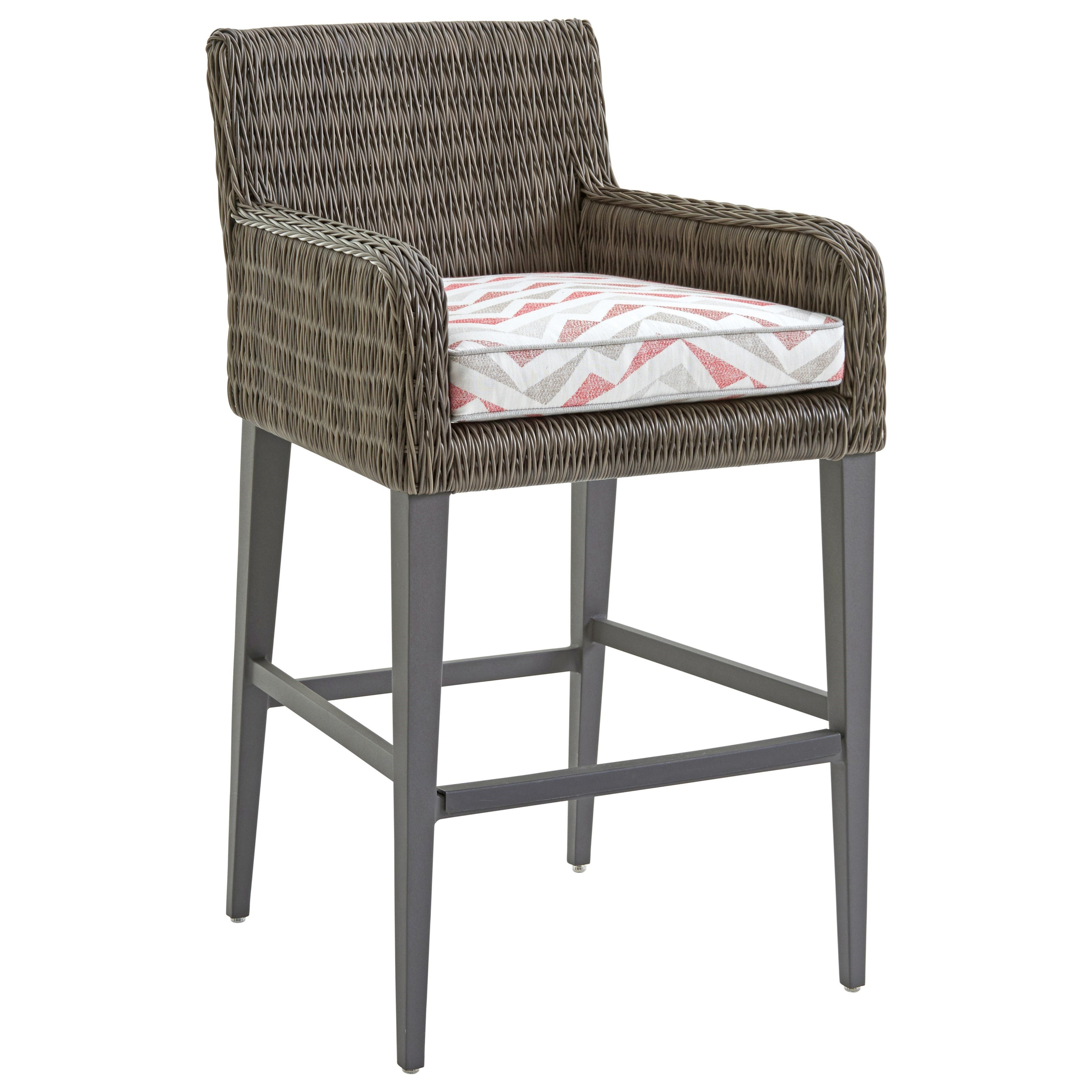 Cypress Point Ocean Terrace Outdoor Bar Stool by Tommy Bahama Outdoor Living at Baer's Furniture