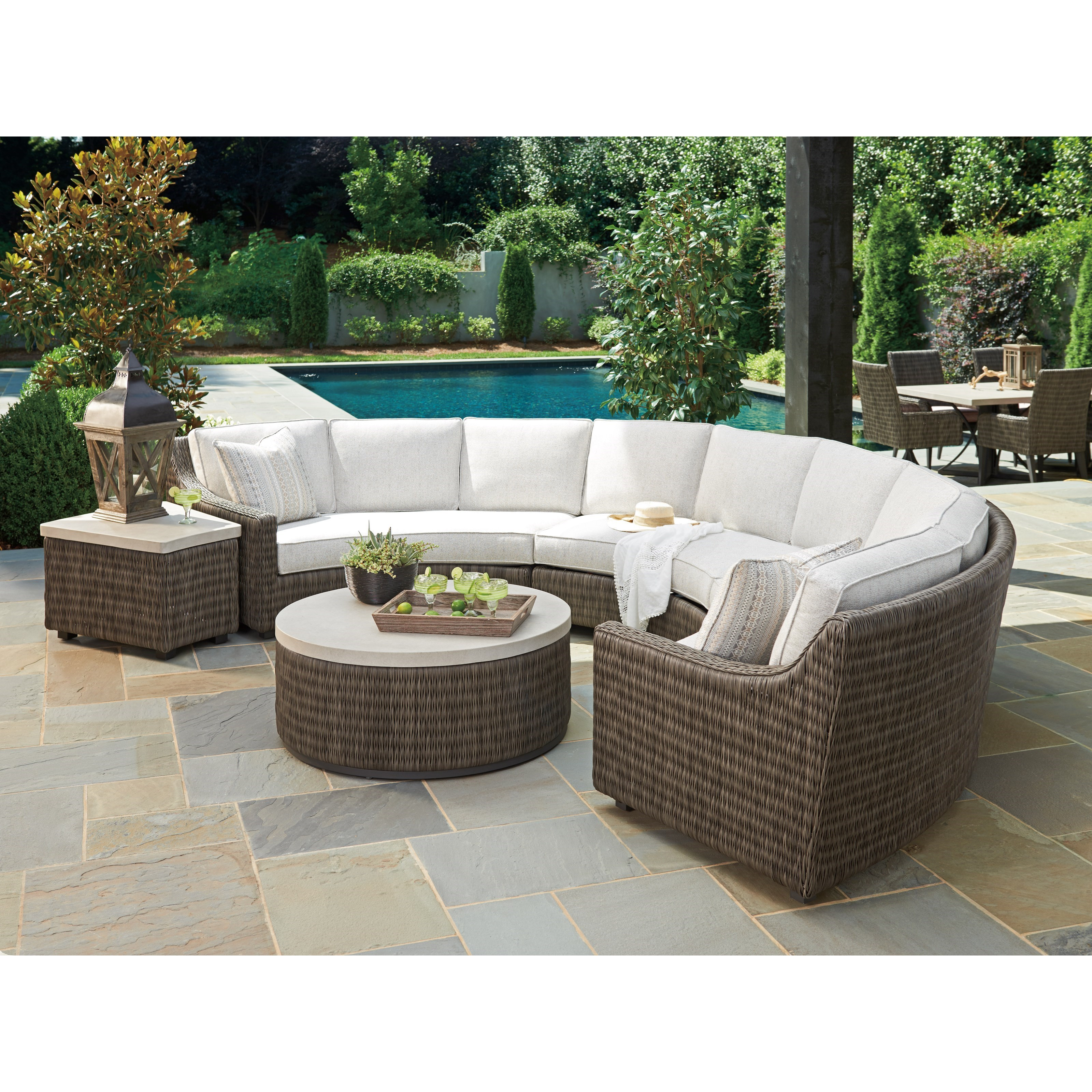 Cypress Point Ocean Terrace Outdoor Sectional Sofa Chat Set by Tommy Bahama Outdoor Living at Baer's Furniture