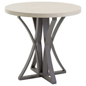 Outdoor Adj Bistro Table w/ Weatherstone Top