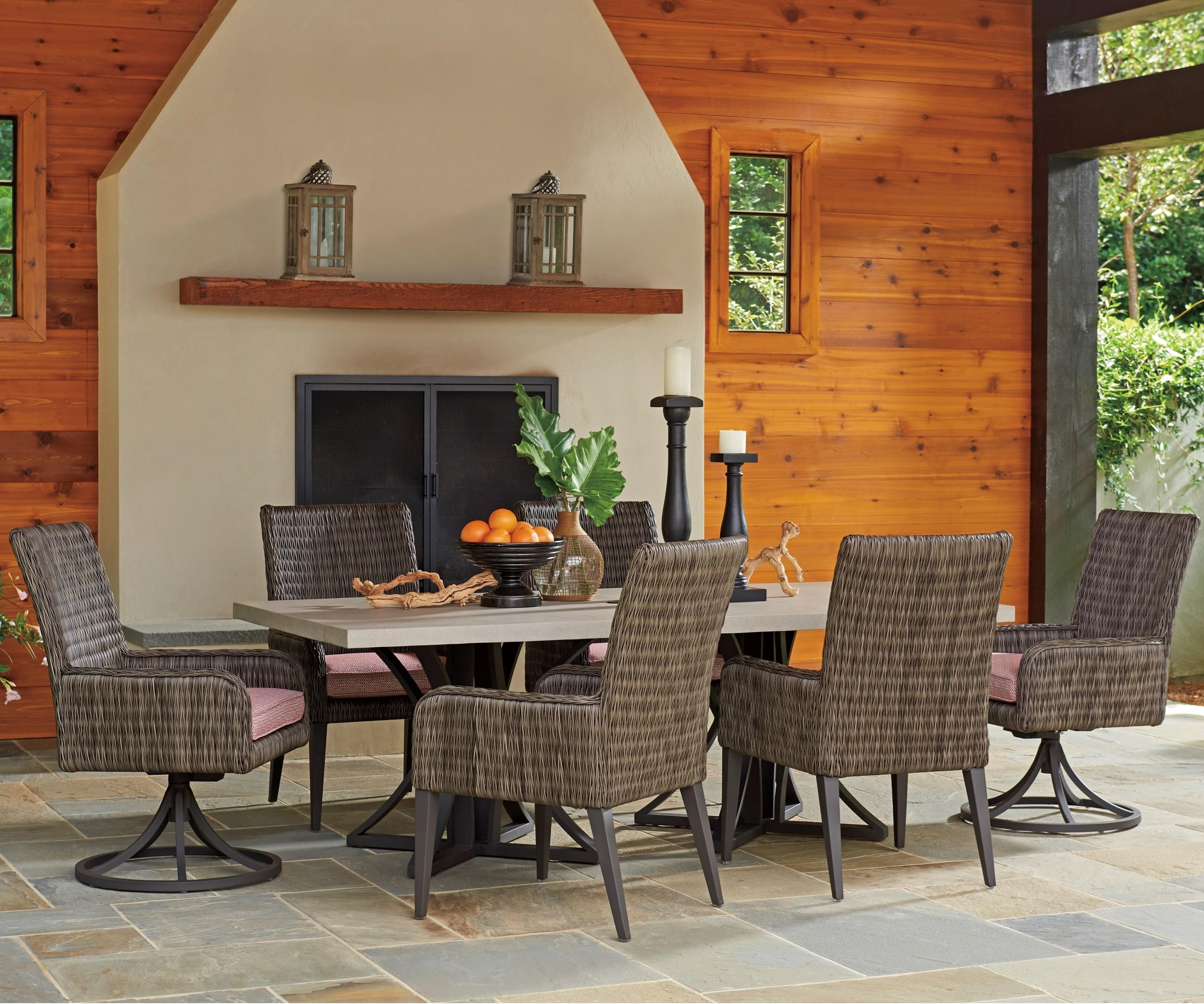 Cypress Point Ocean Terrace 7 Pc Outdoor Dining Set by Tommy Bahama Outdoor Living at Baer's Furniture