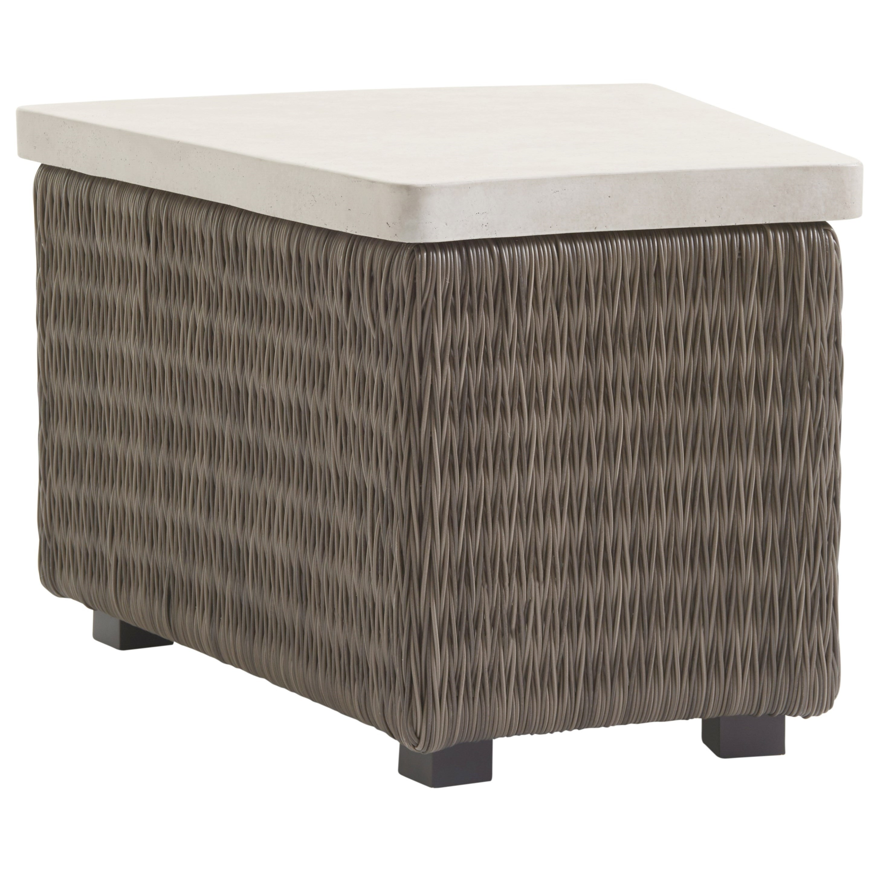 Cypress Point Ocean Terrace Outdoor Wedge Table with Weatherstone Top by Tommy Bahama Outdoor Living at Baer's Furniture