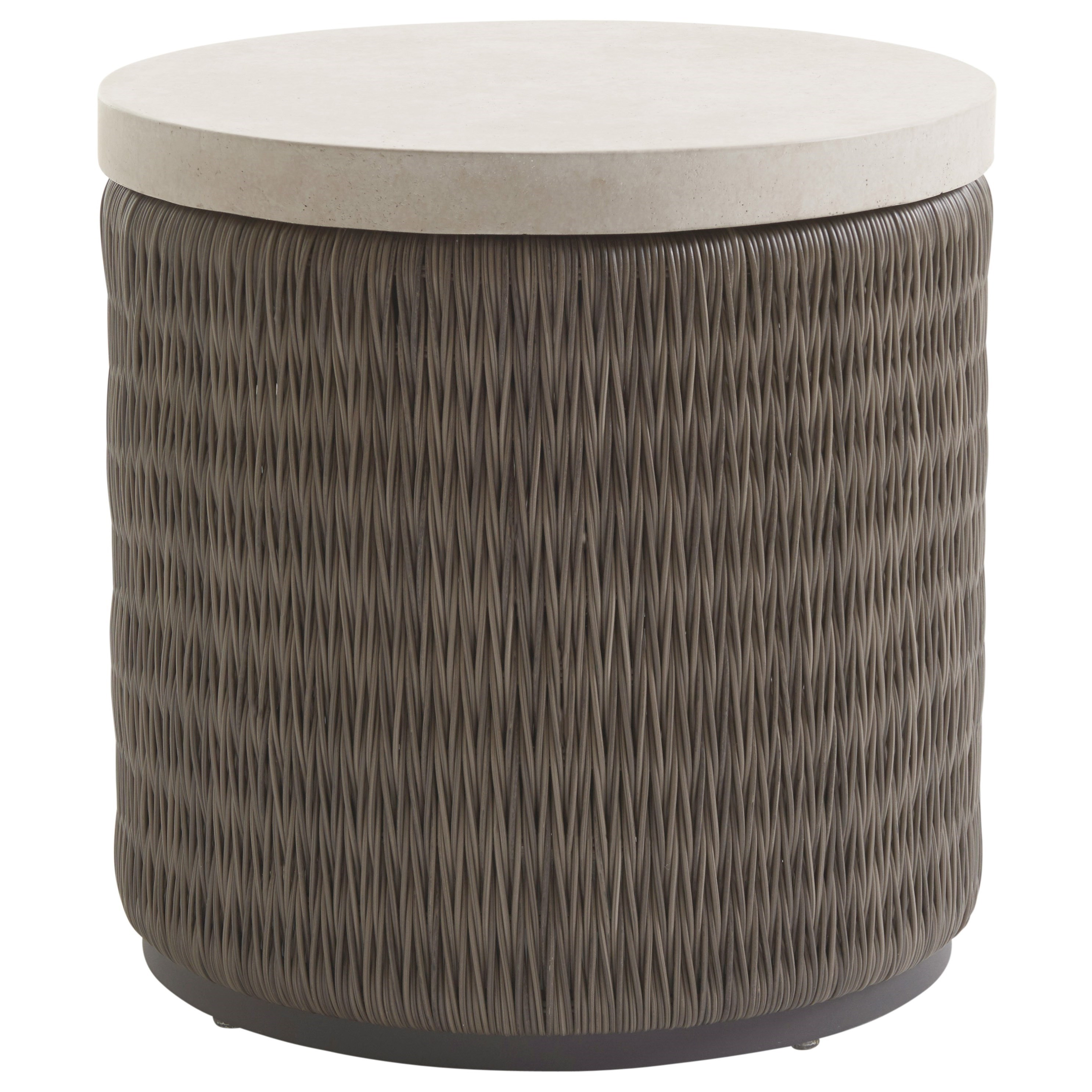 Cypress Point Ocean Terrace Round End Table with Weatherstone Top by Tommy Bahama Outdoor Living at Baer's Furniture