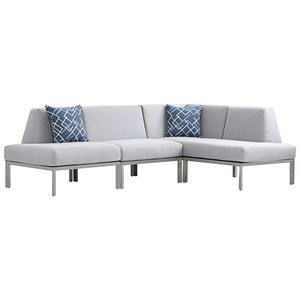 Three Piece Outdoor L-Shape Sectional