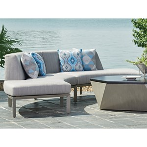 Two Piece Outdoor Curved Sectional Sofa