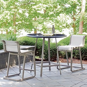 Outdoor Bistro Dining Set with Counter Height Stools