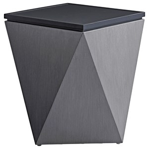 Contemporary Outdoor Faceted Accent Table