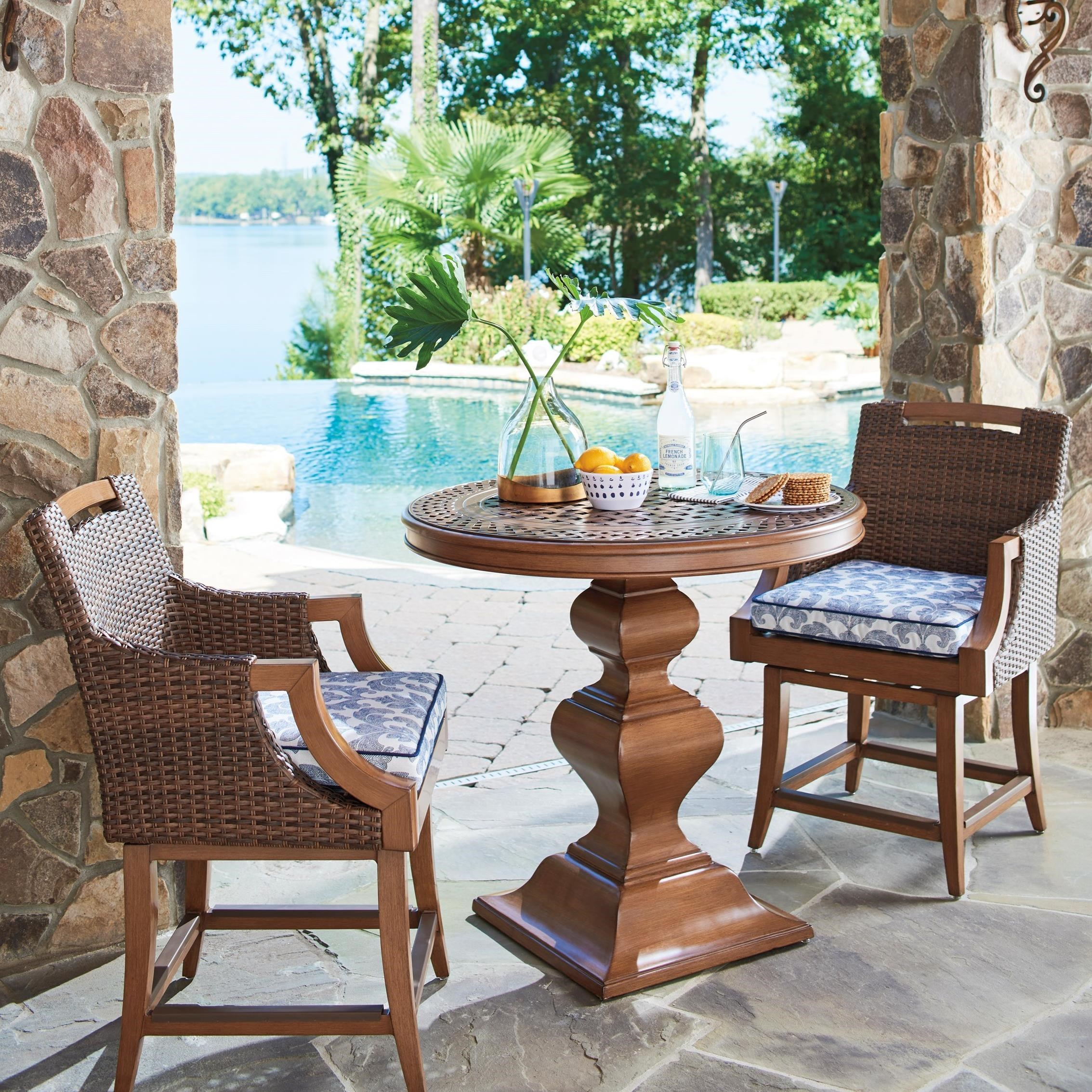 Harbor Isle 3-Piece Outdoor Bistro Set w/ Counter Stools by Tommy Bahama Outdoor Living at Baer's Furniture