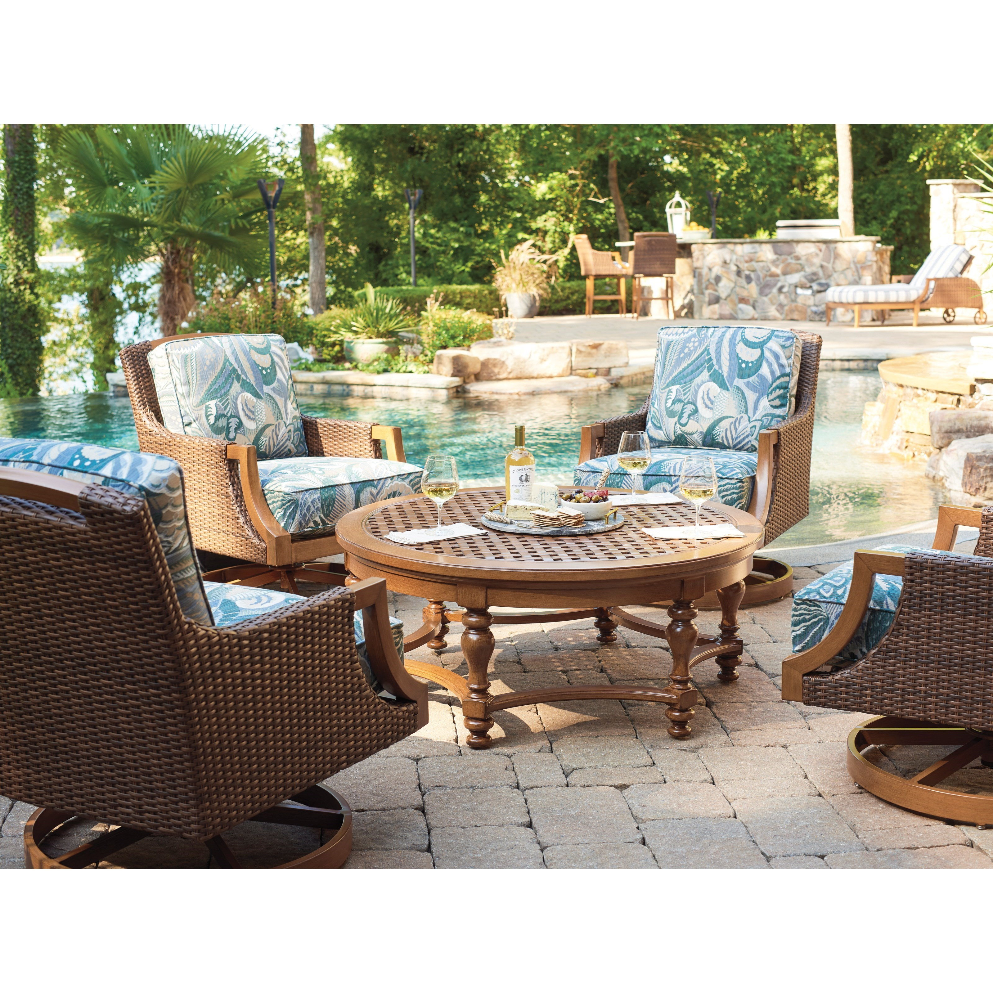 Harbor Isle 5-Piece Outdoor Chat Set by Tommy Bahama Outdoor Living at Baer's Furniture