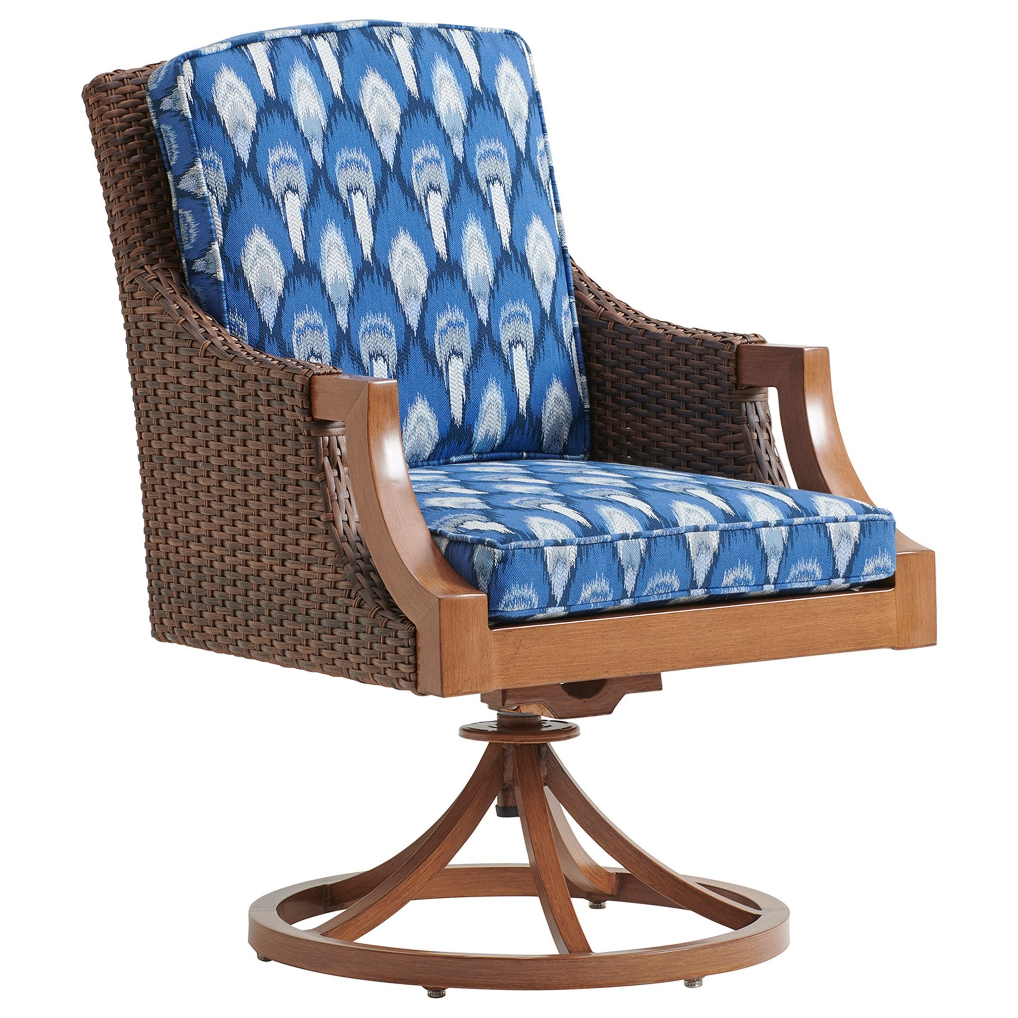 Harbor Isle Swivel Rocker Dining Chair by Tommy Bahama Outdoor Living at Baer's Furniture