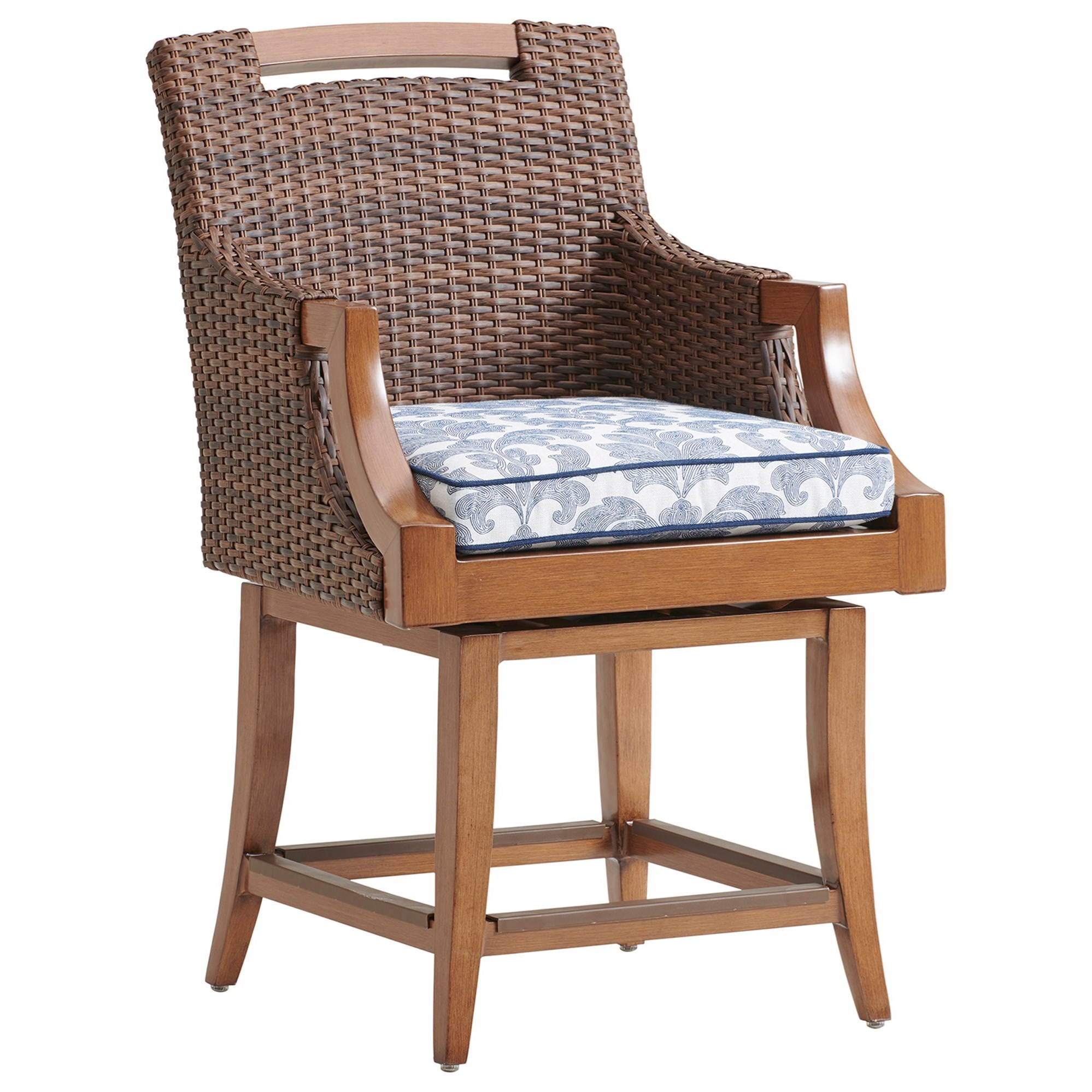 Harbor Isle Swivel Counter Stool by Tommy Bahama Outdoor Living at Baer's Furniture