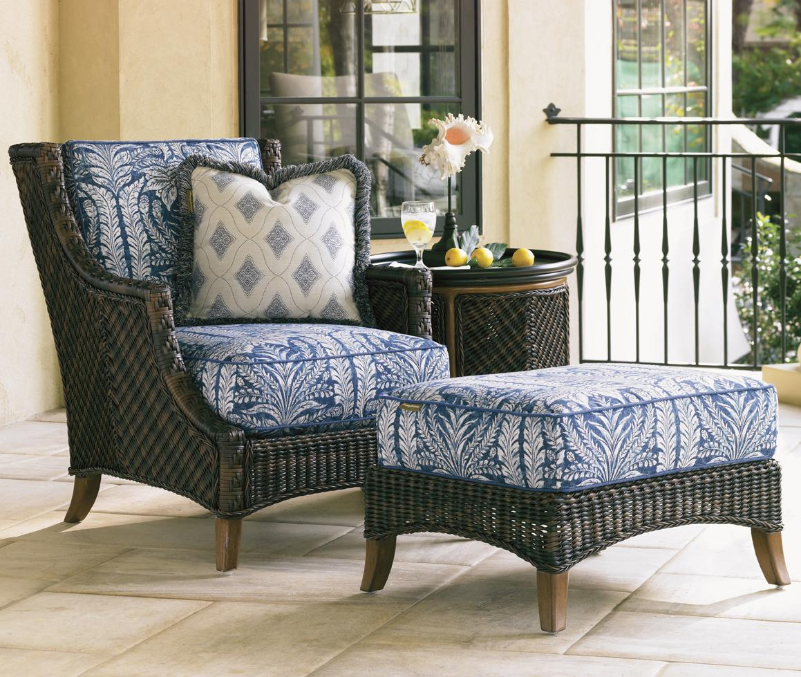Island Estate Lanai Outdoor Lounge Chair & Ottoman by Tommy Bahama Outdoor Living at Baer's Furniture