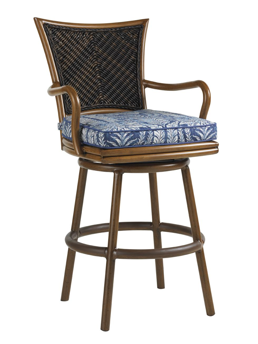 Island Estate Lanai Outdoor Swivel Bar Stool by Tommy Bahama Outdoor Living at Baer's Furniture