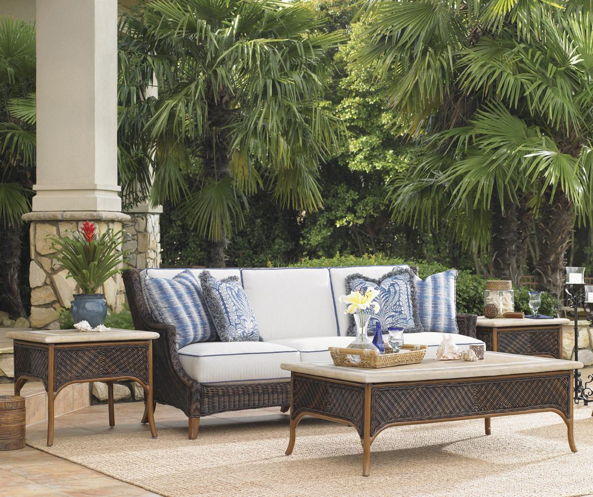 Island Estate Lanai 4 Piece Patio Set by Tommy Bahama Outdoor Living at Baer's Furniture