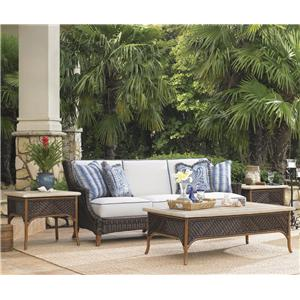 4 Piece Boxed Edge Sofa and Table Set