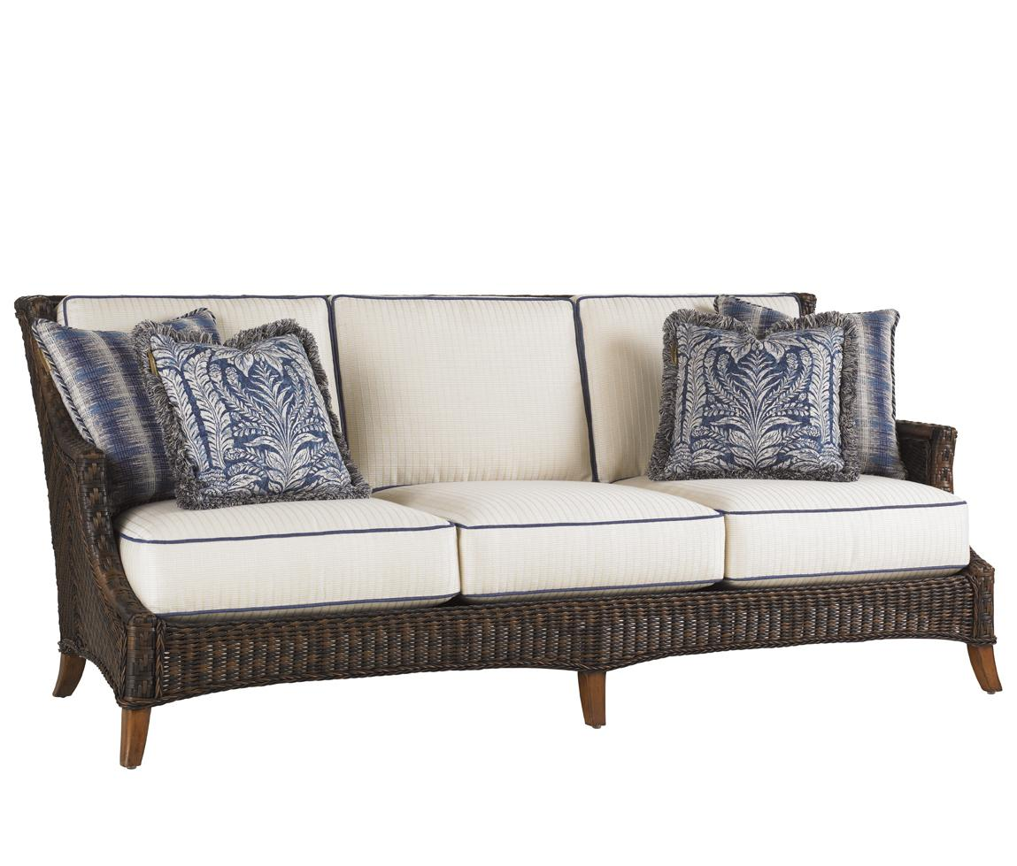 Island Estate Lanai Outdoor Boxed Edge Sofa by Tommy Bahama Outdoor Living at Baer's Furniture