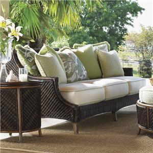 Outdoor Woven Wicker Scatterback Sofa