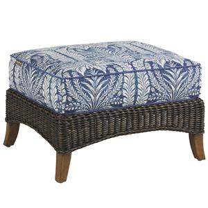 Outdoor Woven Wicker Ottoman