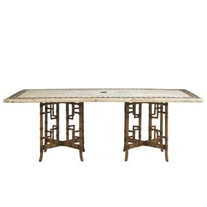 Tommy Bahama Outdoor Living Island Estate Veranda Outdoor Stone Rectangular Dining Table