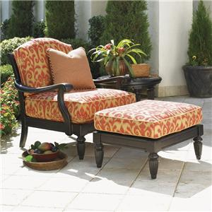 Tommy Bahama Outdoor Living Kingstown Sedona Chair and Ottoman Set with Table