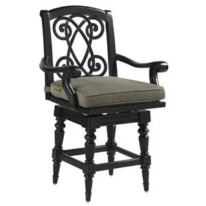 Tommy Bahama Outdoor Living Kingstown Sedona Swivel Counter Stool