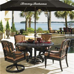 Tommy Bahama Outdoor Living Kingstown Sedona Cast Top Dining Table