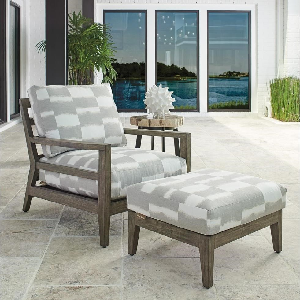La Jolla Chair & Ottoman Set by Tommy Bahama Outdoor Living at Baer's Furniture