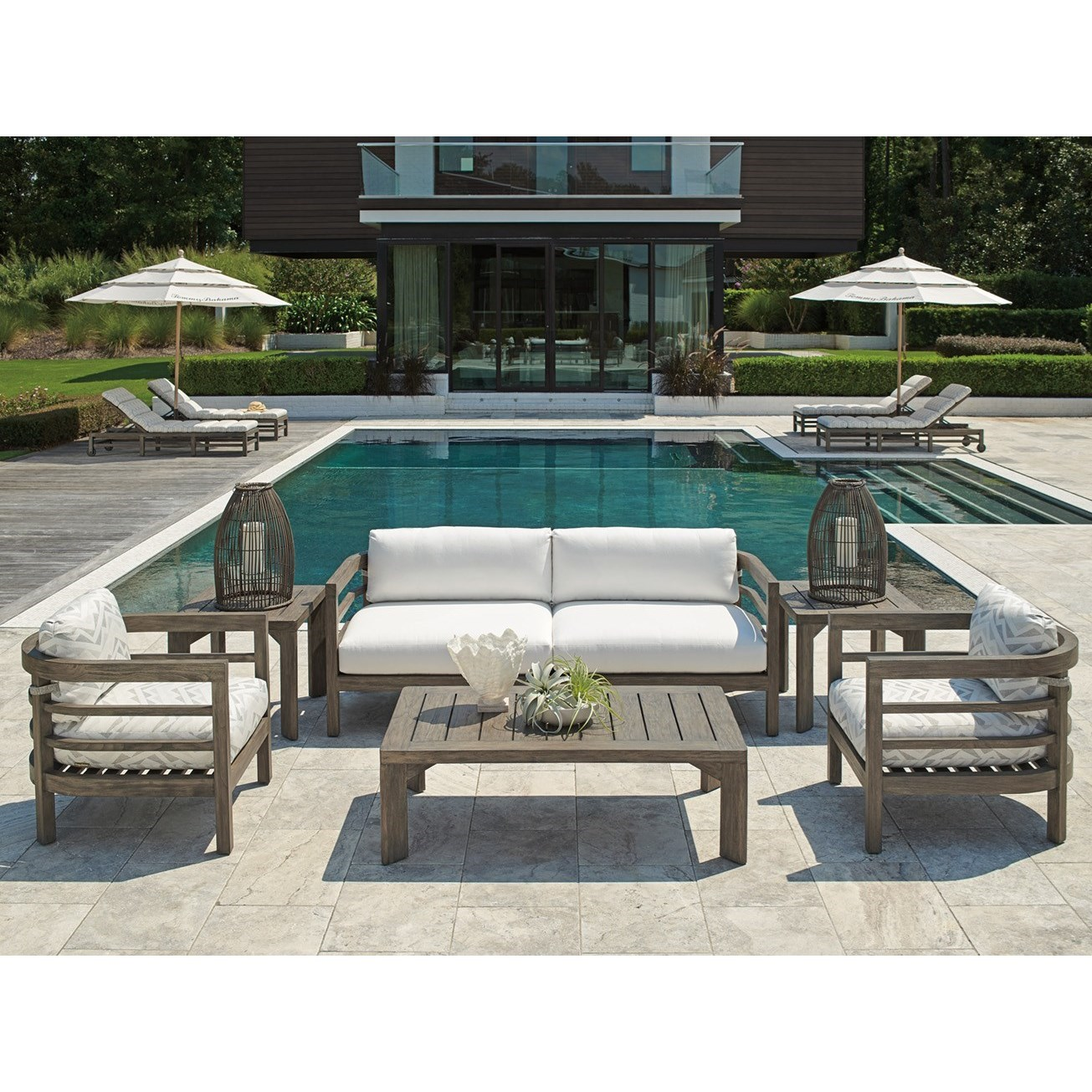 La Jolla Outdoor Chat Set by Tommy Bahama Outdoor Living at Baer's Furniture