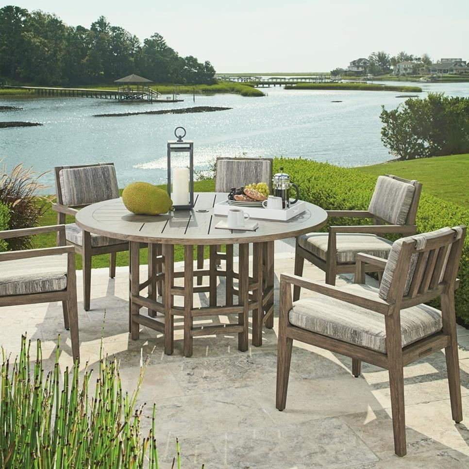 La Jolla 6-Piece Outdoor Dining Set by Tommy Bahama Outdoor Living at Baer's Furniture