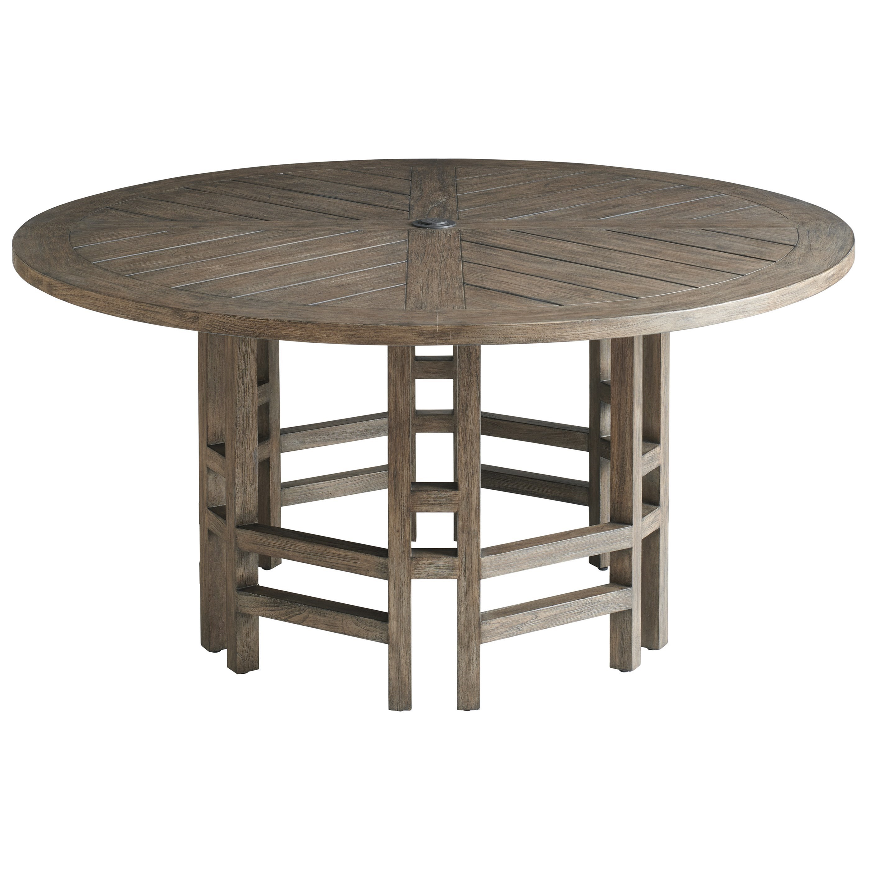 La Jolla Round Dining Table by Tommy Bahama Outdoor Living at Baer's Furniture