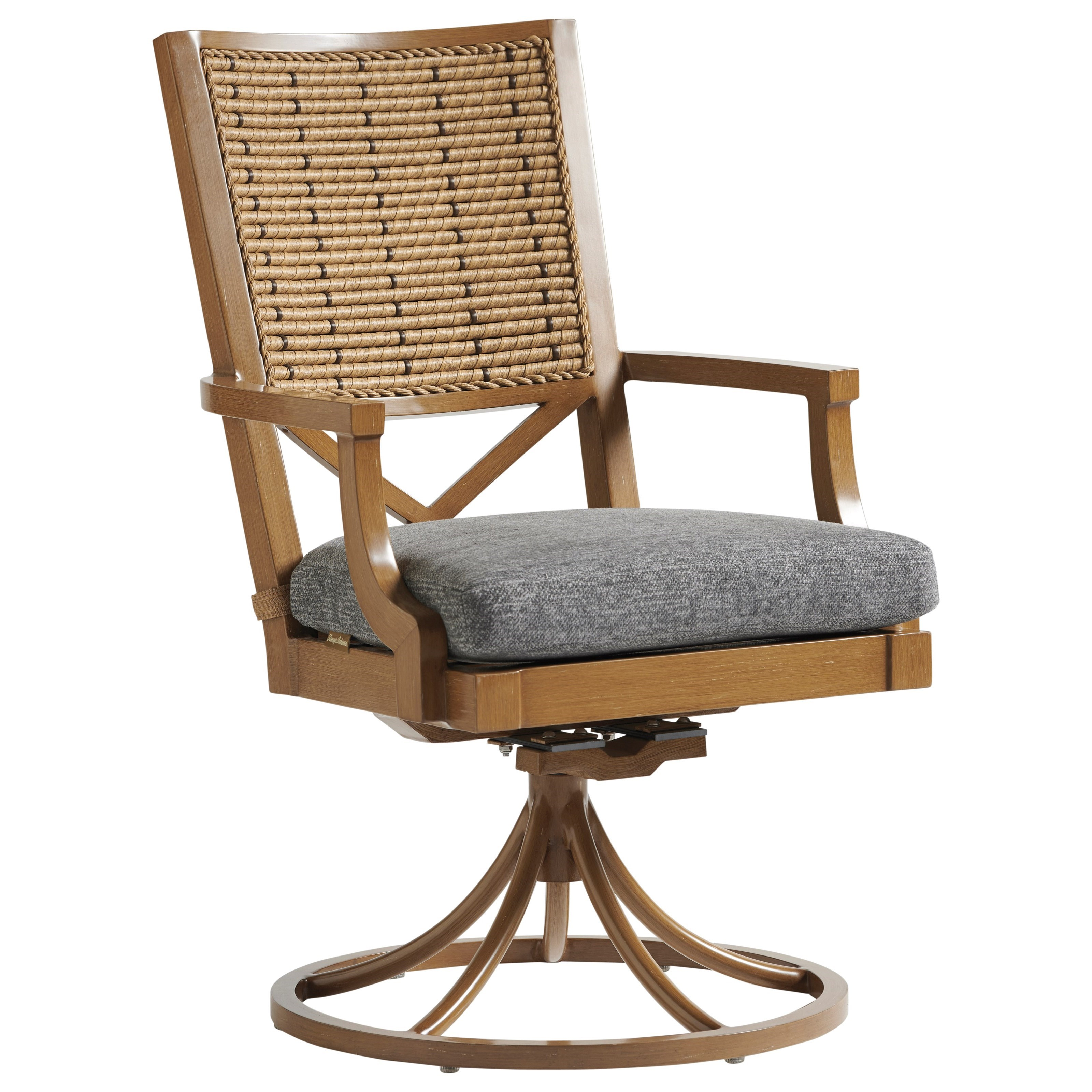 Los Altos Valley View Swivel Rocker Dining Chair by Tommy Bahama Outdoor Living at Malouf Furniture Co.