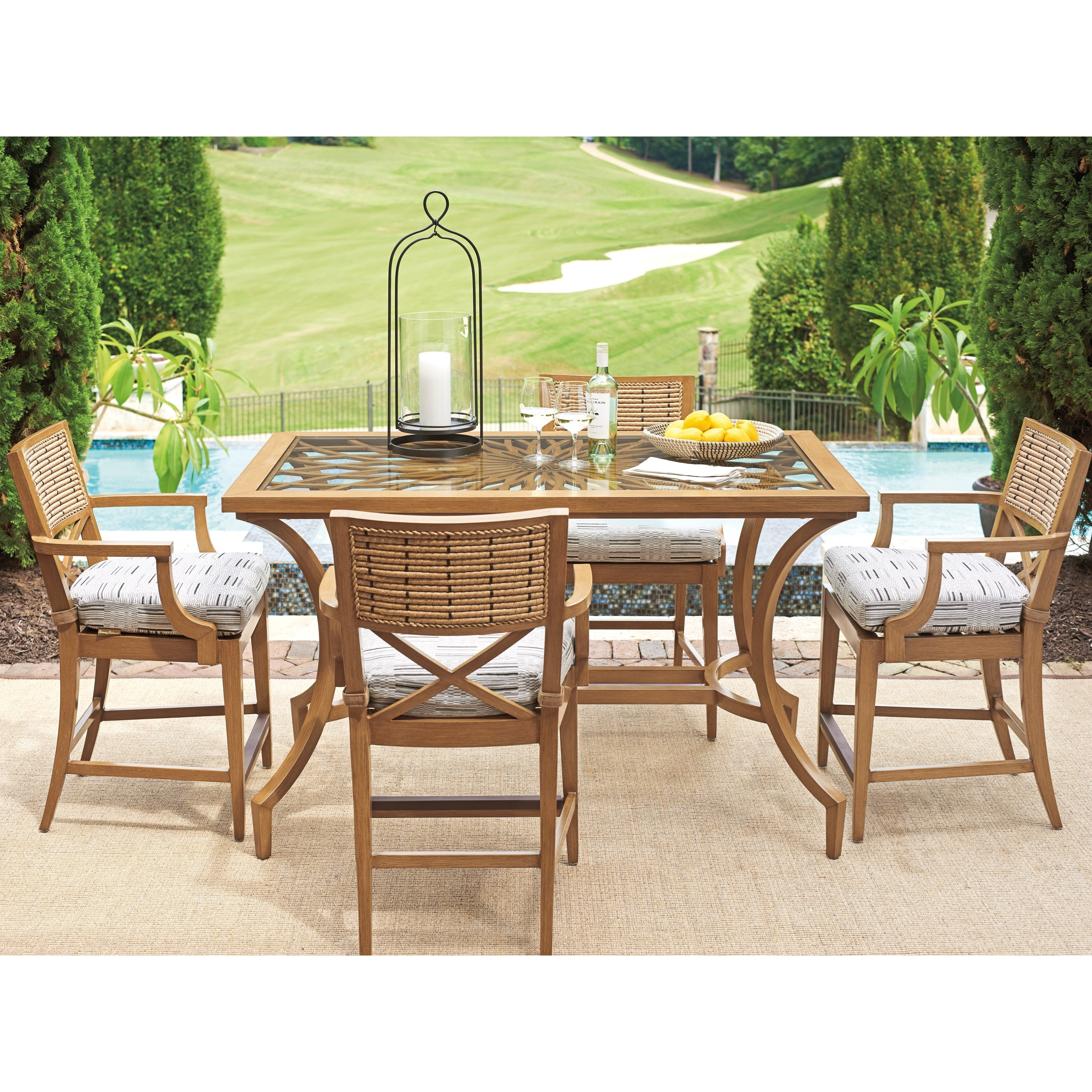 Los Altos Valley View 5 Piece Outdoor Bistro Dining Set by Tommy Bahama Outdoor Living at Baer's Furniture