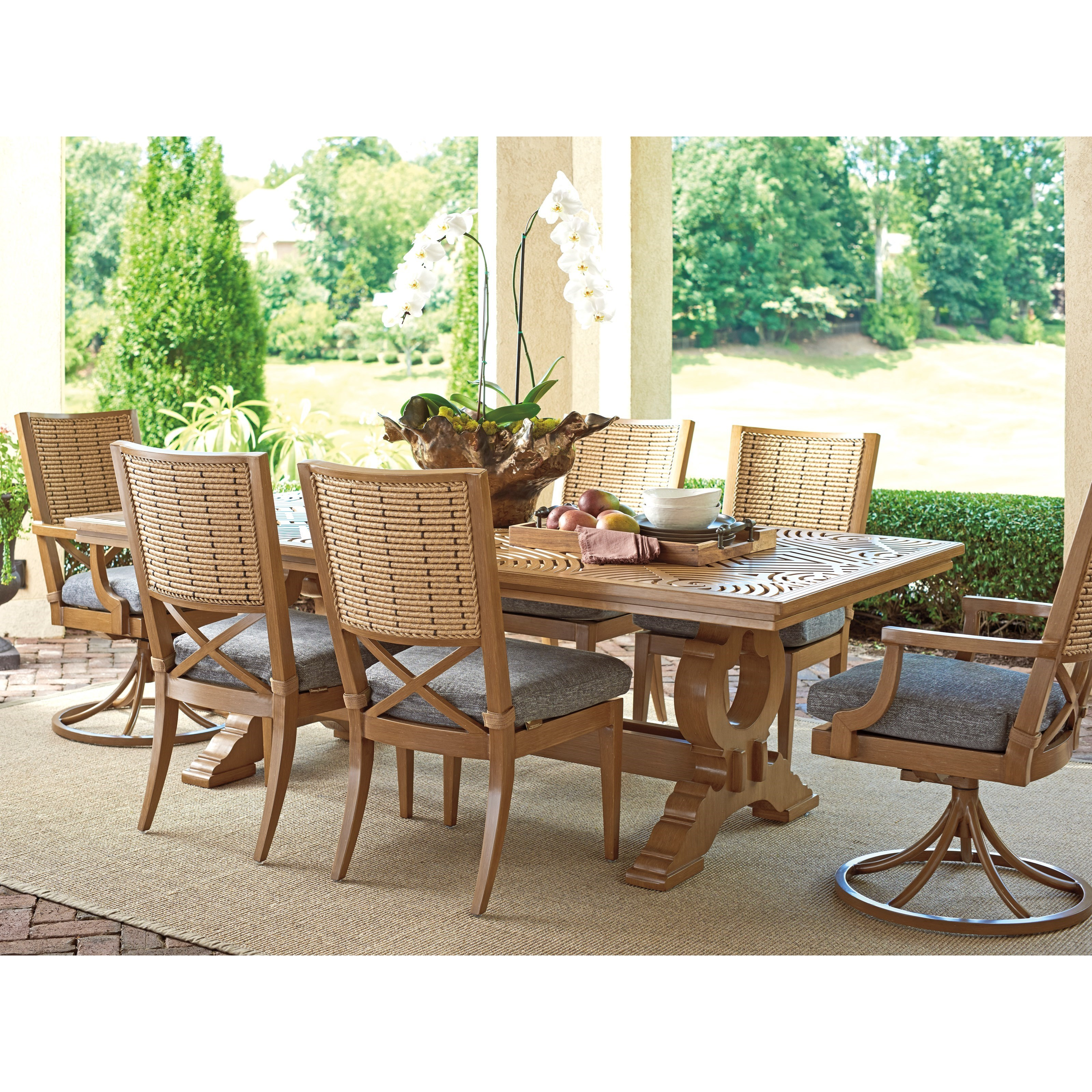 Los Altos Valley View 7-Piece Outdoor Dining Set by Tommy Bahama Outdoor Living at Baer's Furniture