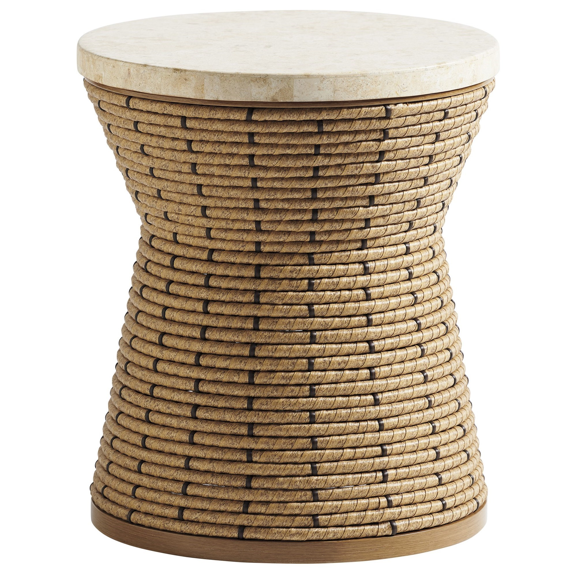Los Altos Valley View Round Side Table by Tommy Bahama Outdoor Living at Baer's Furniture