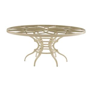Round Dining Table w/ Glass Top