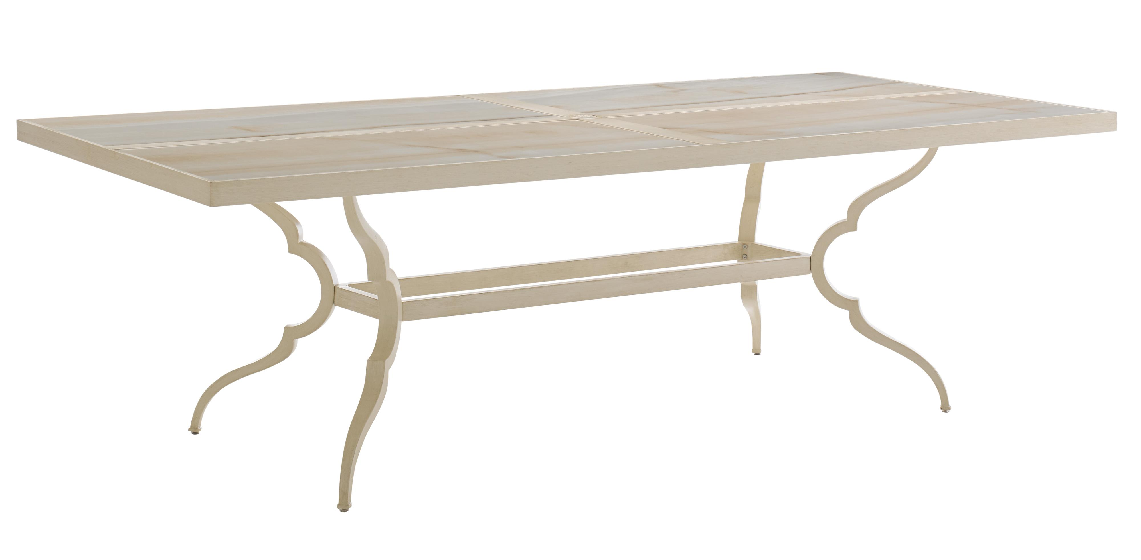 Misty Garden Rectangular Dining Table w/ Porcelain Top by Tommy Bahama Outdoor Living at Baer's Furniture