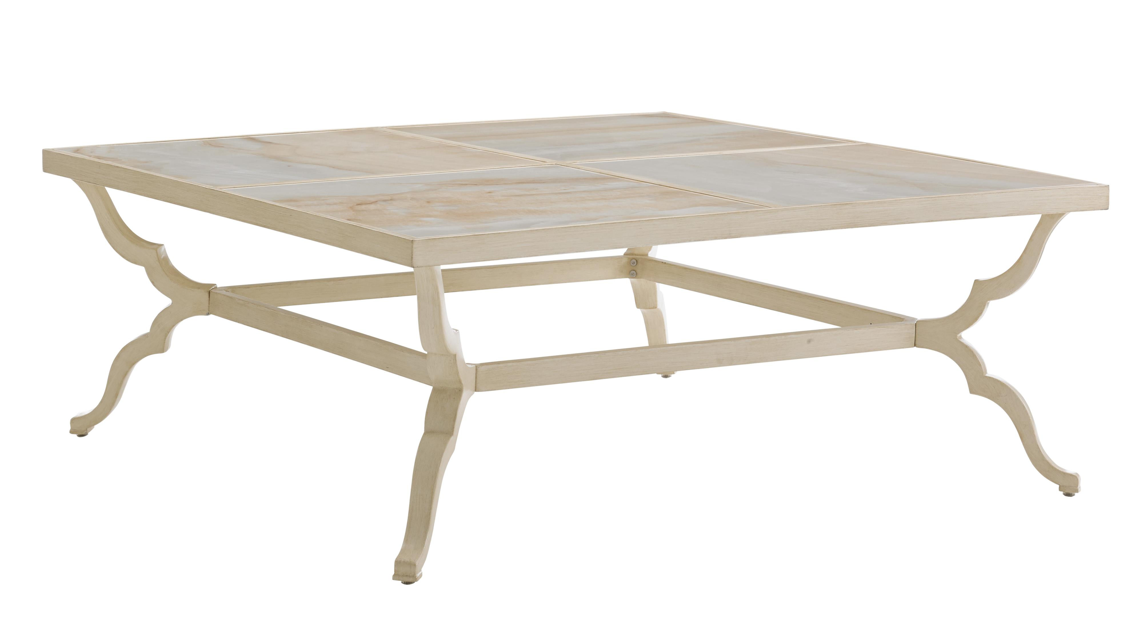 Misty Garden Square Cocktail Table w/ Porcelain Top by Tommy Bahama Outdoor Living at Baer's Furniture