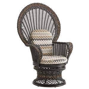 Outdoor Swivel Upholstered Fan Chair