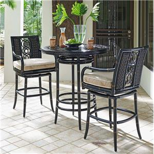 Outdoor Adjustable High / Low Bistro Table with Bar Stools