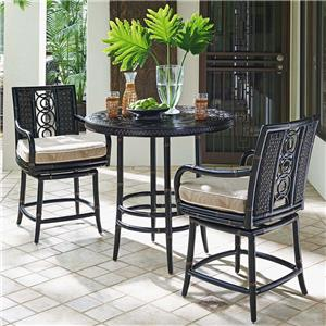 Outdoor Adjustable High / Low Bistro Table with Counter Stools