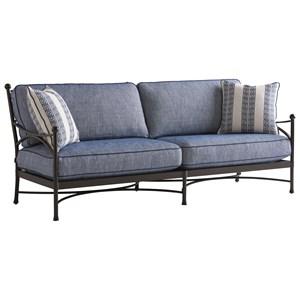 Customizable Outdoor Aluminum Sofa with Decorative Ball Finials