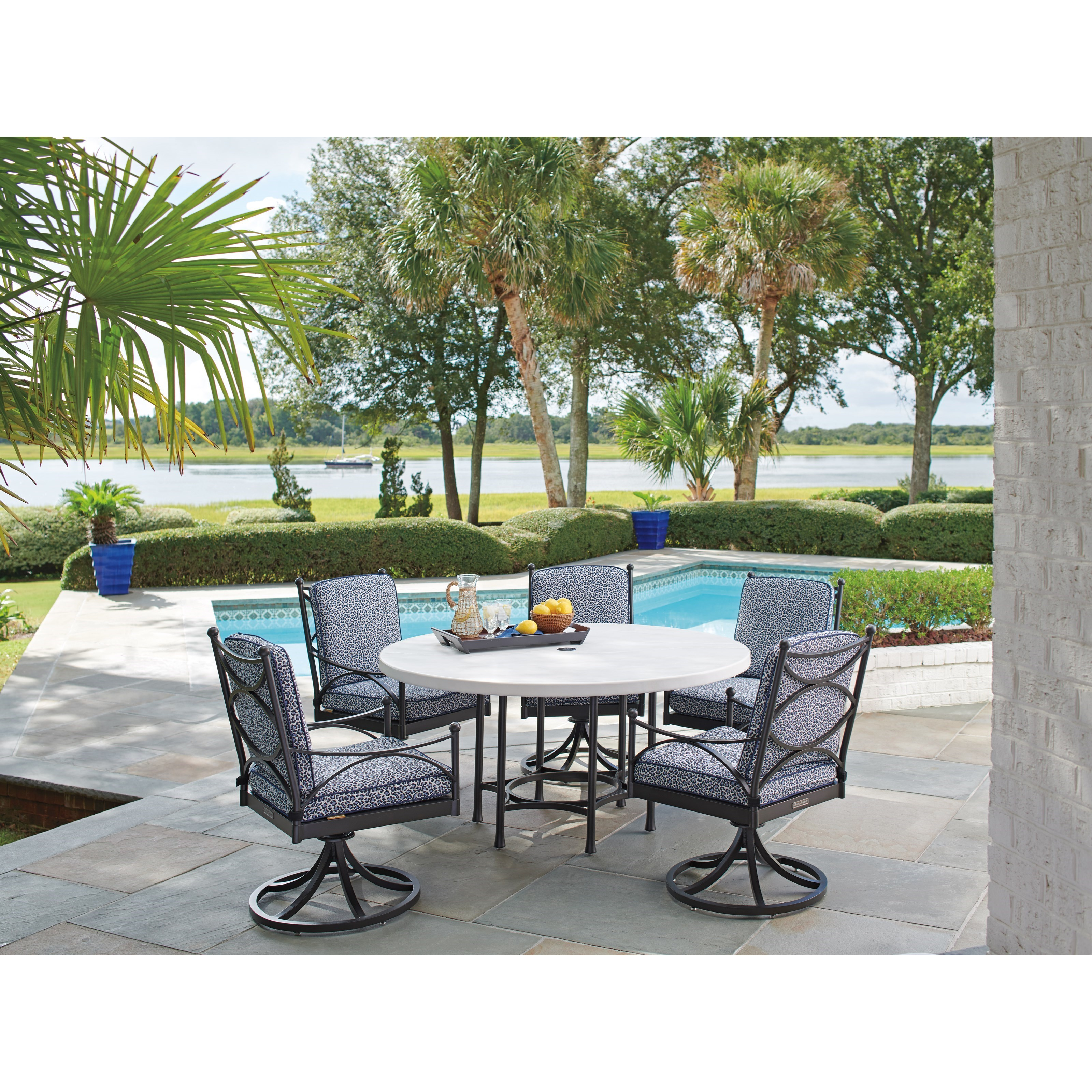 Pavlova 6 Piece Outdoor Table and Chair Set by Tommy Bahama Outdoor Living at Jacksonville Furniture Mart