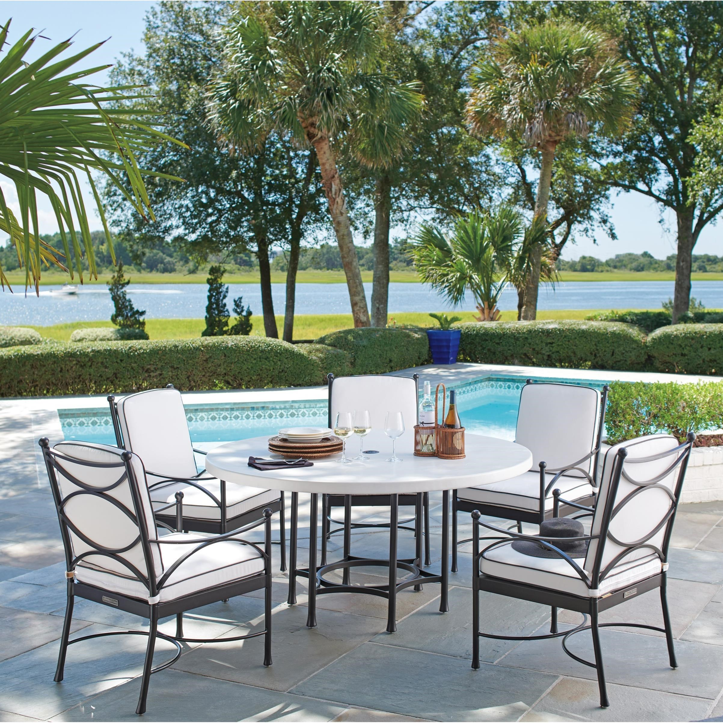 Pavlova 6 Piece Outdoor Table and Chair Set by Tommy Bahama Outdoor Living at Baer's Furniture
