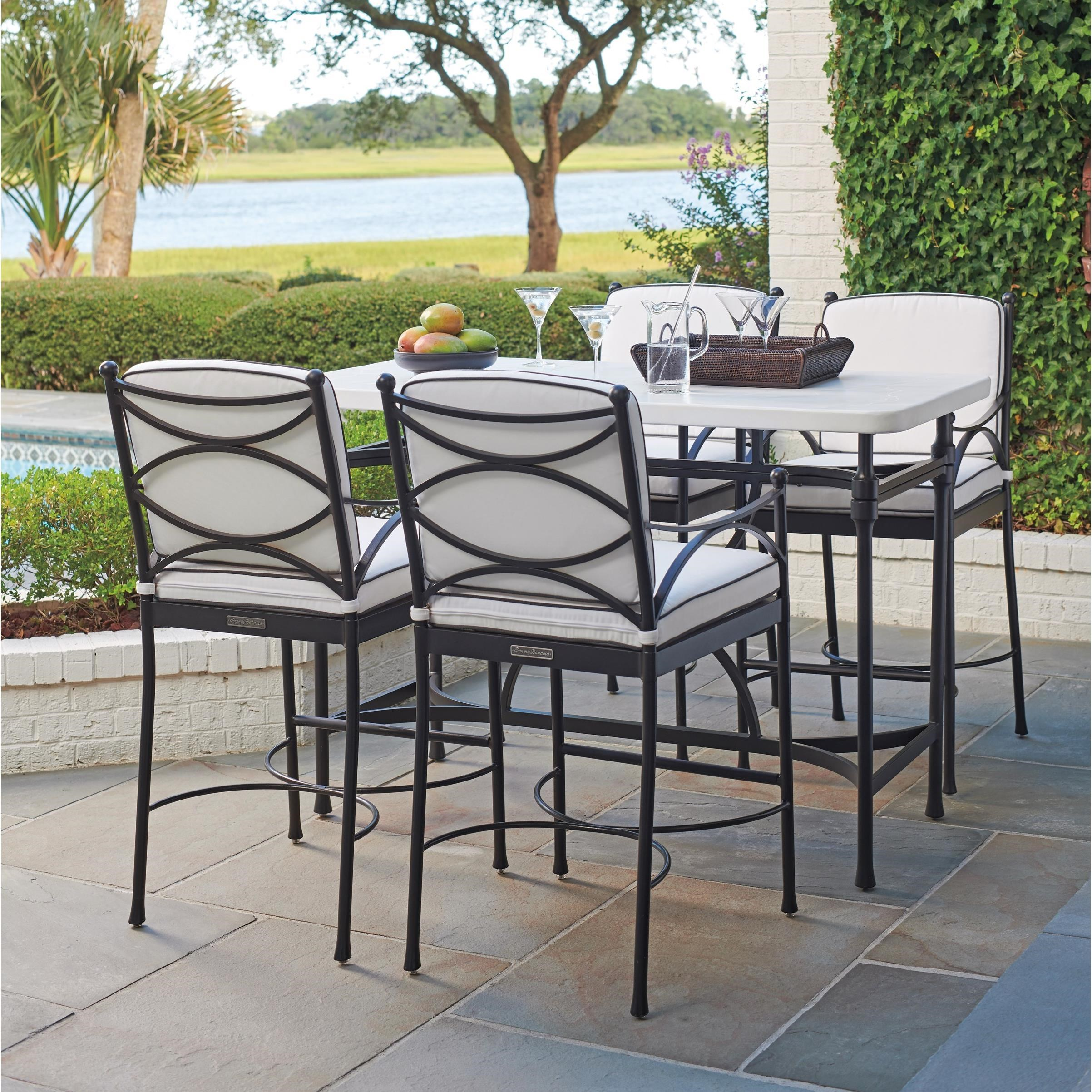 Pavlova 5 Piece Outdoor Hi/Lo Bistro Dining Set by Tommy Bahama Outdoor Living at Baer's Furniture