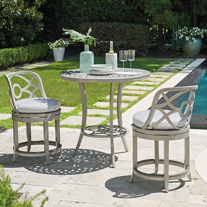 Silver Sands Bistro Set with Counter Stools by Tommy Bahama Outdoor Living at Baer's Furniture