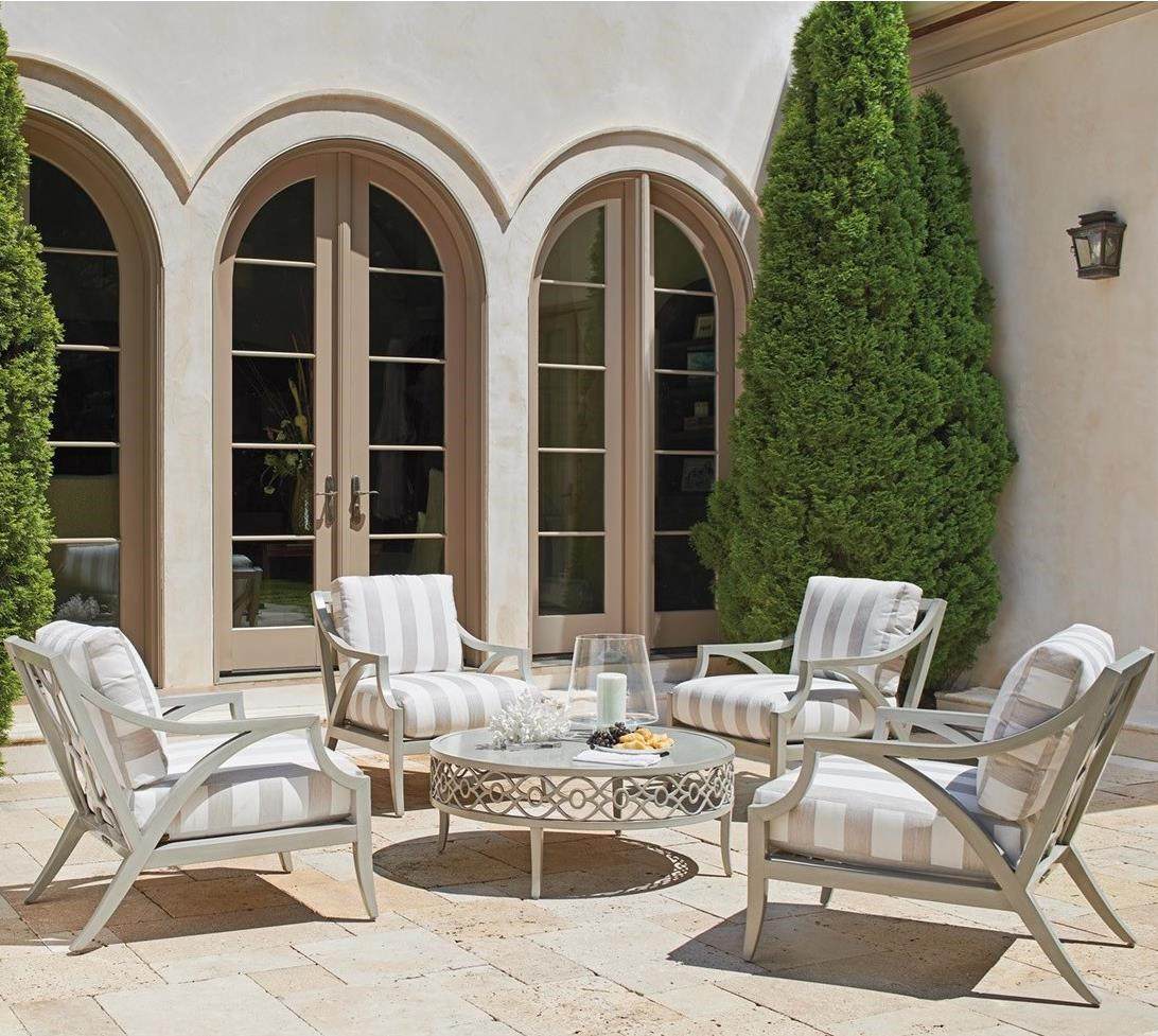 Silver Sands Outdoor Chat Set w/ Round Cocktail Table by Tommy Bahama Outdoor Living at Baer's Furniture