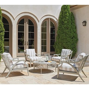 Outdoor Chat Set w/ Round Cocktail Table