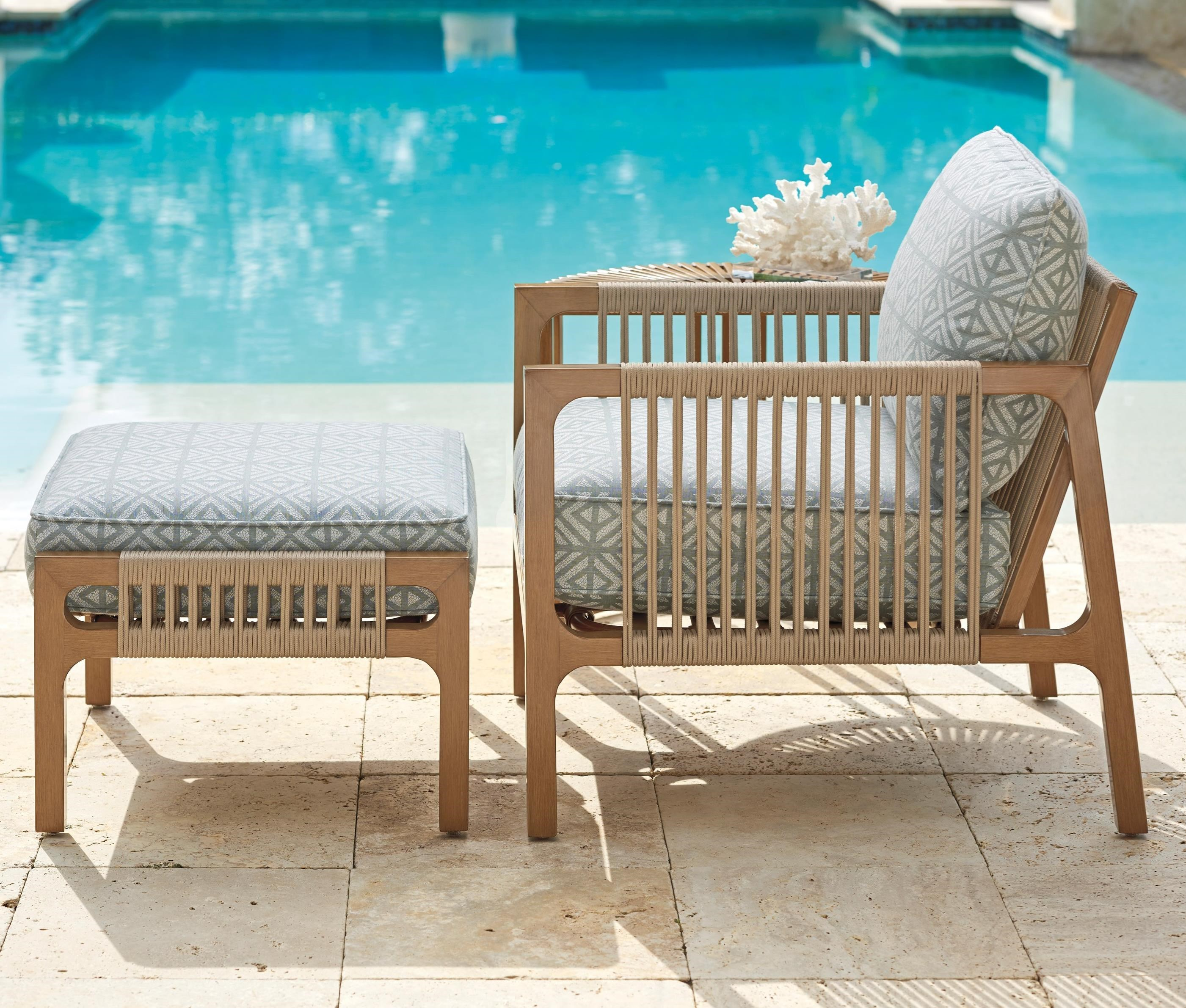 St Tropez Chair & Ottoman Set by Tommy Bahama Outdoor Living at Baer's Furniture