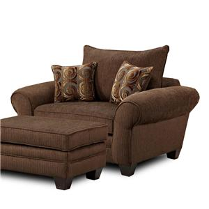 Townhouse Mh910 Oversized Chair And Ottoman Combination Bigfurniturewebsite Chair Amp Ottoman