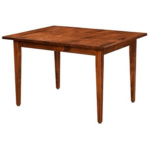 Customizable Solid Wood Dining Table with 2 Leaves